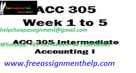 ACC305 INDIVIDUAL ASSIGNMENT HELP